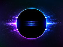 Dark blue vector shining cosmic ring Royalty Free Stock Photo
