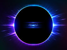 Dark blue vector shining cosmic ring Royalty Free Stock Photos