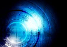 Dark blue vector technology background Stock Photos