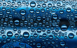 Dark blue water bubbles plastic condensation Royalty Free Stock Image