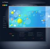 Dark blue website Stock Photos