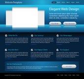 Dark blue website design template Royalty Free Stock Image