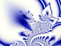 Dark blue white contrast abstract fractal art. Shiny background illustration  Royalty Free Stock Photos