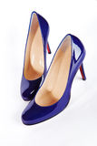 Dark blue women shoes Royalty Free Stock Photos