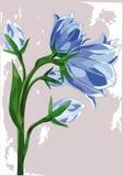 Dark blue wood flower Stock Photo