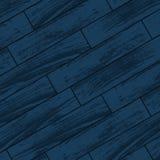 Dark blue wooden parquet Stock Photography
