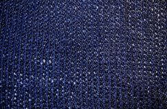 Dark blue yarn. Knitwork ouf of dark blue yarn Stock Photography