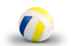 Dark blue, yellow Volley-ball ball on a white background Royalty Free Stock Image