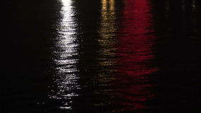Dark  blur night river background with reflections Stock Images
