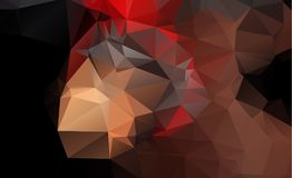 Dark blurry triangle background design. Geometric backgro. Und in Origami style with gradient stock illustration