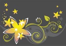 Dark botanical pattern Stock Image