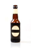 Dark bottle of beer Stock Photography