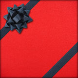 Red gift with dark bow Stock Image
