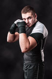 Dark boxer Royalty Free Stock Images