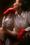 Dark boxing Stock Images
