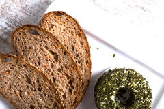 Dark bread and cheese Royalty Free Stock Photography