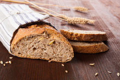 Dark bread still life. Royalty Free Stock Photo