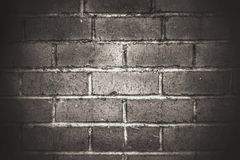 Dark brick. Keeps the construction Stock Photography
