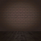 Dark brick room Stock Photo