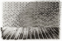 Dark Brick Wall Stock Image