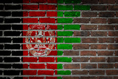 Dark brick wall - Afghanistan Royalty Free Stock Photography