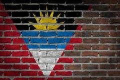 Dark brick wall - Antigua and Barbuda Stock Photos