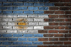 Dark brick wall - Argentina Royalty Free Stock Photos