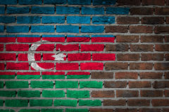 Dark brick wall - Azerbaijan Royalty Free Stock Images
