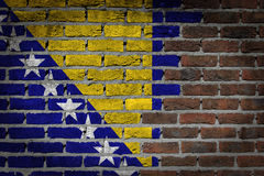 Dark brick wall - Bosnia and Herzegovina Stock Photography
