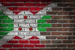 Dark brick wall - Burundi Stock Photo