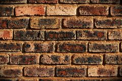 Dark brick wall - close-up view Royalty Free Stock Images