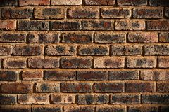 Dark brick wall - close-up view Royalty Free Stock Image