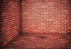Dark brick Wall corner Royalty Free Stock Image