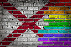 Dark brick wall - LGBT rights - Alabama Stock Images