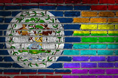 Dark brick wall - LGBT rights - Belize Stock Image