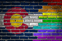 Dark brick wall - LGBT rights - Colorado Royalty Free Stock Image