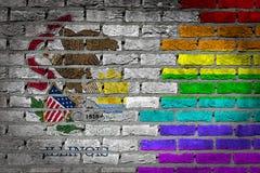 Dark brick wall - LGBT rights - Illinois Royalty Free Stock Photography
