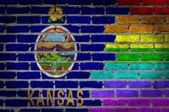 Dark brick wall - LGBT rights - Kansas Stock Photo