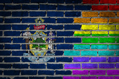Dark brick wall - LGBT rights - Maine Royalty Free Stock Photo