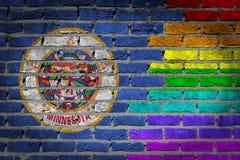 Dark brick wall - LGBT rights - Minnesota Stock Photo