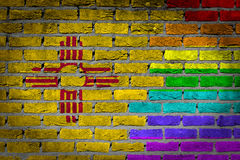 Dark brick wall - LGBT rights - New Mexico Royalty Free Stock Photography