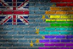 Dark brick wall - LGBT rights - Tuvalu Royalty Free Stock Images