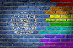 Dark brick wall - LGBT rights - United Nations Royalty Free Stock Image