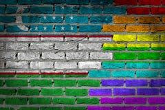 Dark brick wall - LGBT rights - Uzbekistan Royalty Free Stock Photography