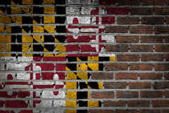Dark brick wall - Maryland Stock Images
