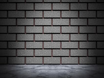 Dark brick wall with spot light. Architecture background. 3d render illustration Stock Photo