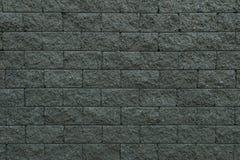 Dark bricks wall. The fence is made from dark brick Stock Photography