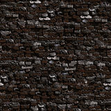 Dark brickwork seamless background. Stock Photo