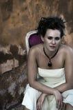 Dark Bridal Portrait Stock Photo