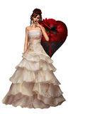 Dark Bride. A bride covered in blood Royalty Free Stock Image